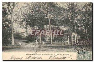 Old Postcard Sheepfolds National Rambouillet Court Hangars