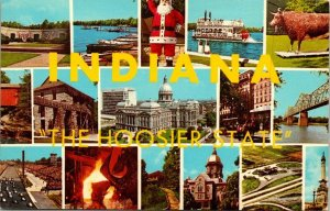 Vintage Postcard Indiana The Hoosier State Greetings Unposted  1050