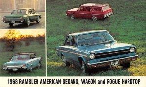 1968 Rambler American Sedan Station Wagon Auto Advertising Postcard JF685263