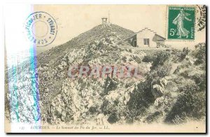 Old Postcard Lourdes Summit of the Pic du Jer