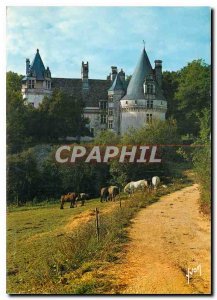Postcard Modern Country Perigord truffles and Chateau Chateau de Puyguilhem (...