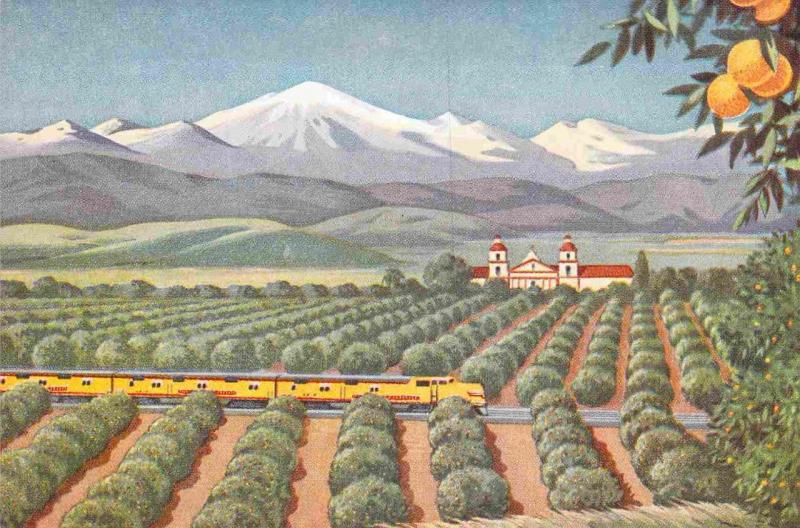 Union Pacific Art, California Agriculture Card No. 11 in Series Vintage Postcard