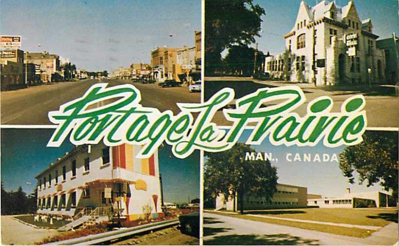 Views at Portage La Prairie Manitoba MB 1963