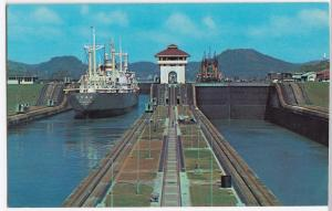 Miraflores Locks of the Panama Canal, as Seen From the Bridge PPC, Unposted
