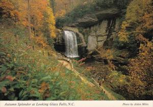 North Carolina Glass Falls Autumn Splendor At Looking