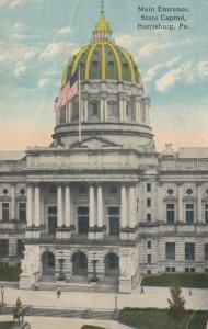 HARRISBURG, Pennsylvania, 1914; Main Entrance, Capitol Building