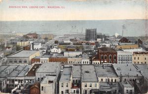 Waukegan Illinois~Birdseye Downtown East to Harbor~Backyard Laundry Line~1909 PC