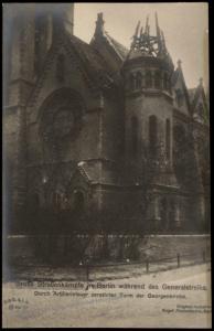 German Revolution 1919 Berlin Georgen Kirche Strassenkampf Freikorps RPPC 74383