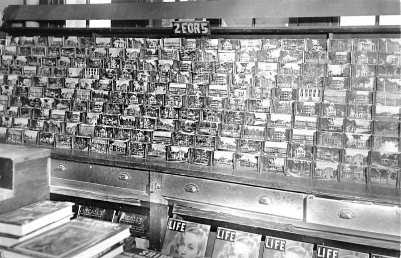 Circa 1955 Postcard Store Sales Display Life Magazines Real Photo Postcards