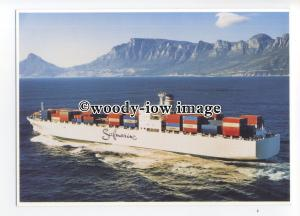 cd0297 - Safmarine Container Ship - SA Waterberg , built 1979 - postcard