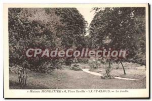 Postcard Old House Monestier Deville Place Saint Cloud Garden