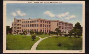 South Carolina colour PC Senior High Scholl, Greenville, unused