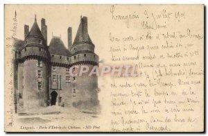 Postcard Langeais Old Gate D & # 39Entree Du Chateau