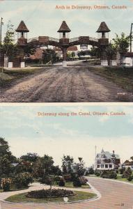OTTAWA, Ontario, Canada, 1900-1910´s; Driveway Along The Canal