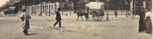 Street Scene in Barcelona Vintage Postcard Early 1900