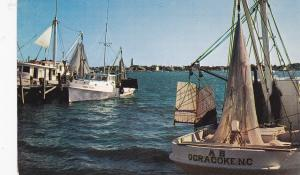 Shrimp Boats , OCRACOKE ISLAND , North Carolina , 50-60s