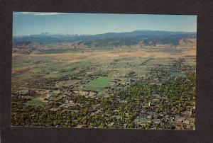 CO Aerial view Fort Collins Colorado State Univ University Postcard