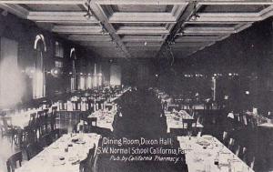 Dining Room Dixon Hall S W Normal School California Pennsylvania 1908