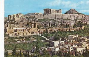 General View Of Acropolis From Philopappos Monument Athens Greece