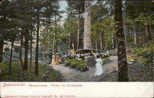 Germany Badenweiler Blauenstrasse Partie am Hildafelsen undivided back