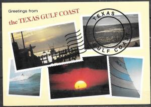 Texas, Greetings from the Texas Gulf Coast, unused