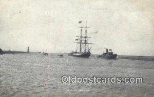 Perrys Flagship Niagara Sailboat 1913 postal used 1913