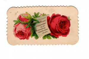 Victorian 2 X 3 1/2 inch. Calling Card with Saying, Name Hattie Leger