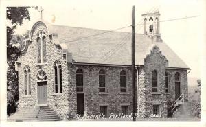 Portland Pennsylvania St Vincents Church Real Photo Antique Postcard K48345