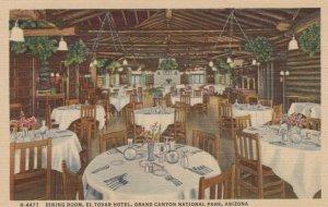 GRAND CANYON Nat. Park, Arizona, 30-40s; Dining Room,El Tovar Hotel, Fred Harvey