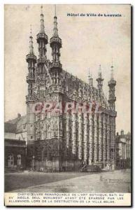 Postcard Old City Hall of Leuven