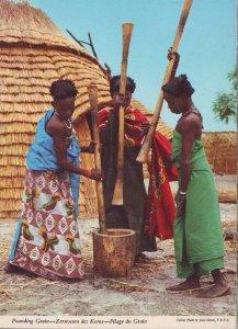Kenya Post Card - Pounding Grain