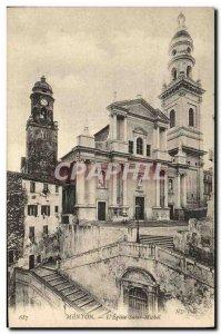 Old Postcard Menton L Eglise Saint Michel