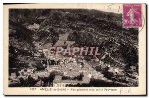 Old Postcard Amelie les Bains Vue Generale and Petite Provence