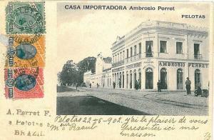 VINTAGE POSTCARD: BRAZIL - PELOTAS 1902