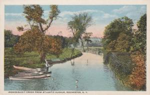 Irondequoit Creek from Atlantic Avenue - Penfield, Rochester, New York - WB