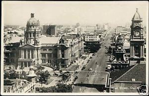 south africa, DURBAN, Natal, West Street (1940s) RPPC