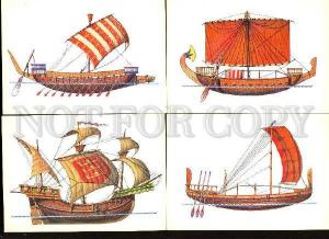 005276 History of navigation ships Collection 32 russian cards