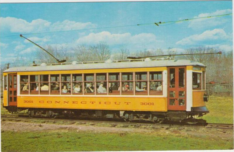 Connecticut electric railway trolley leightweight car no. 3001 built 1922