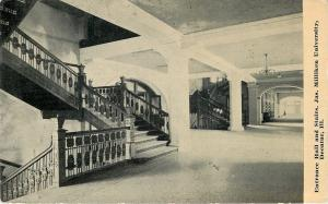Decatur Illinois~Arched Doorway~Entrance Hall & Stairs~Milliken University~1910