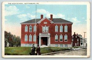 Gettysburg Pennsylvania~High School~Ladies Walk Down Street~1920s