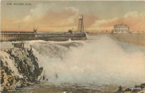 1910 Burley Idaho Milner Dam Hand Colored postcard 6911