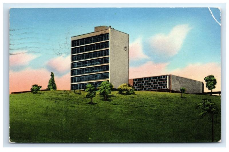 Postcard Admin Building, University of Panama, Panama posted 1954, damaged D17