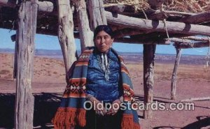 Navajo Woman Indian Postcard, Post Card Color by Dwight Warren Unused