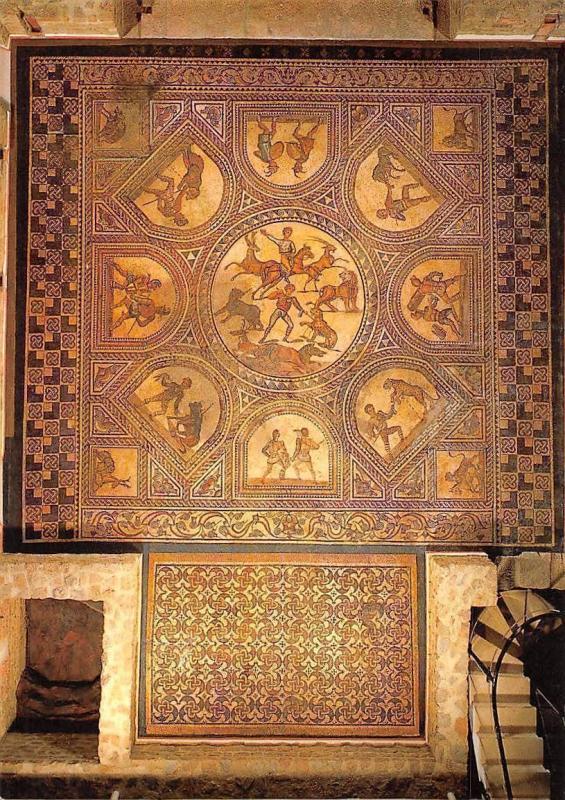 Gladiatoren Mosaik, Roemische Villa Bad Kreuznach