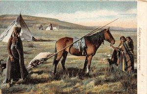 G21/ Native American Indian Postcard c1910 Cree Calgary Canada 2