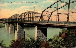 Tennessee Chattanooga County Bridge Over Tennessee River 1911 Curteich