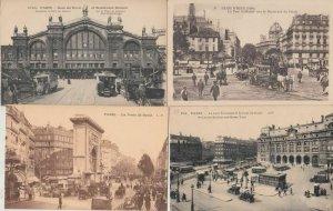 PARIS CARS AUTOMOBILES IN STREET LIFE VIE DANS LA RUE 1000 CPA (mostly pre-1940)