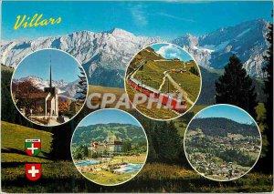 Postcard Modern Villars Schweiz Switzerland Villars Chesieres alt Col de Bret...