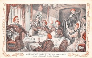 A breakfast crisis in the day household Lithogram by Don Freeman Theater Unused