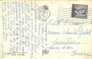 Knokke Belgium~Sunbathing on White Sandy Beach~Crowds~1958 B&W Postcard